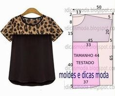 BLUSA FÁCIL DE FAZER – 29 | Moldes Moda por Medida | Bloglovin'