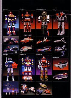 Godaikins via ToyboxDX Retro Toys, Vintage Toys, Power Rangers Megazord, Japanese Robot, Old School Toys, Cool Robots, Space Toys, Mecha Anime, Super Robot