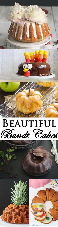 Use these easy BUNDT CAKE DECORATING IDEAS to make beautiful bundt cakes for any holiday or party. Some ideas are easy for kids to make too! From cakewhiz.com