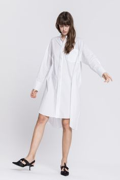 1c4a6717b51 LONG SLEEVE BUTTON SHIRTDRESS  85 Collared Shirt Dress
