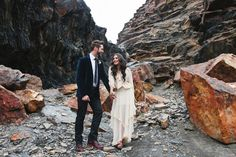 whimsical rocks bridal shoot by Evelyn Eslava Photography