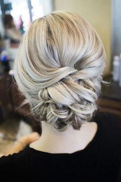 twisted wedding updo hairstyles ideas