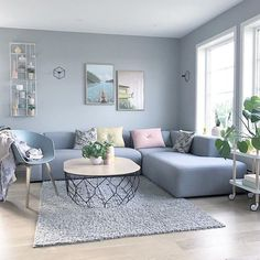 125 gorgeous living room color schemes to make your room cozy 27 ~ Modern House Design Living Room Color Schemes, Living Room Colors, Small Living Rooms, Living Room Grey, Home Living Room, Living Room Decor, Apartment Living, Bedroom Decor, Living Room Paint