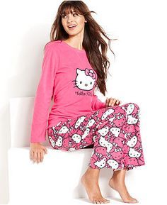 Age Group Pajamas, Hello Kitty Bundled Up Top and Pajama Pants Set - Womens PAJAMAS & ROBES - Macy's