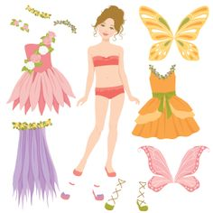 'Fairy Paper doll' by Naoko Matsunaga - Illustration from United States