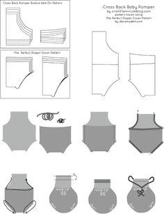 Bildergebnis für baby romper pattern free