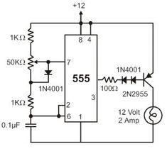 Circuit Diagram for Automatic Room Lights using PIR Sensor