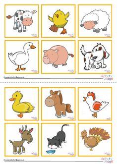 Farm Animal Games For Kids Children Super Ideas - Nutztiere Farm Animals Games, Farm Animals For Kids, Farm Animals Pictures, Animal Pictures For Kids, Farm Animals Preschool, Baby Animal Games, Farm Animal Crafts, Animal Crafts For Kids, Farm Games