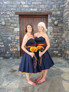 Pretty maids- love the navy & orange