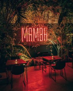 Industrial Restaurant Design, Outdoor Restaurant Design, Raw Restaurant, Restaurant Lighting, Lounge Design, Bar Lounge, Bar Deco, Nightclub Design, Neon Quotes