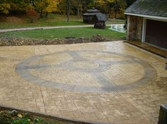 Compass, Stamped Traditional Decorative Concrete DecoCrete by Weaver Concrete Specialties, Inc. Ephrata, PA