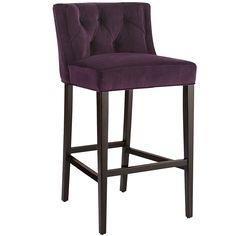 Purple Gisel Bar Stool - Merlot