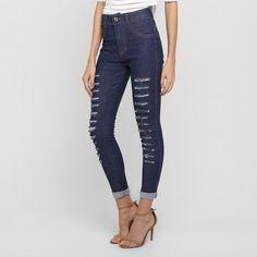 Calça Jeans Biotipo Hot Pants Rasgada - Jeans