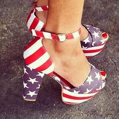 Teaira from Teaira Blair in the El Carmen American Flag Platform by Jeffrey Campbell (http://www.nastygal.com/product/el-carmen-platform--american-flag/) #USA #OMGshoes