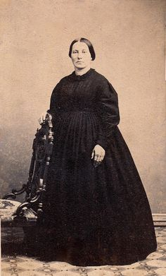 In Mourning, Unmarked Albumen Carte de Visite, Circa 1863