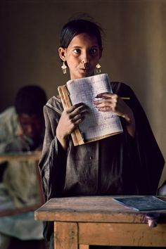 """MALI- The Sahel, Africa - Just Write - Steve McCurry """"Writing is both mask and unveiling. We Are The World, People Around The World, Around The Worlds, Steve Mccurry Photos, World Press Photo, Afghan Girl, Picture Stand, Contemporary Photography, Human Condition"""