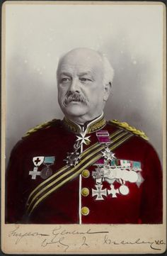 """Surgeon-General William Manley Holder of the Victoria Cross and the Prussian Iron Cross 2nd Class of 1870.  Manley was also awarded the Prussian Military Merit Medal and the Bavarian Order of Military Merit. In 1870, he commanded B division of the British Ambulance Corps, attached to the 22nd division of the Prussian army. Manley's Iron Cross is the version for """"Nichtkämpfer"""" (non-combatants) which ribbon has the colors reversed..."""