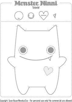 Monster pattern :) Baby, Spielzeug, Stofftier, Geschenk