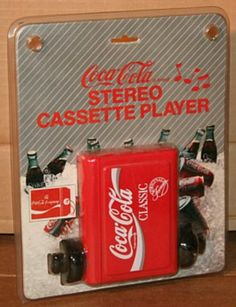 Coca Cola cassette player...