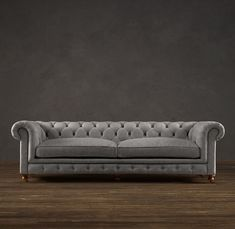 Love this tufted sofa