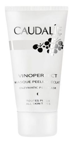 Caudalie Caudalie Vinoperfect Enzymatic Peel Mask - 1.6 fl oz by Caudalie. $30.55. Get immediate radiance with Caudalie Vinoperfect Enzymatic Peel Mask. In 10 minutes, reveal a brand new glow. This exfoliating mask tightens pores, reduces oil, renews skin texture, and provides an immediate burst of radiance to your complexion. Get immediate radiance with Caudalie Vinoperfect Enzymatic Peel Mask. This exfoliating mask tightens pores, reduces oil, renews skin texture, an...