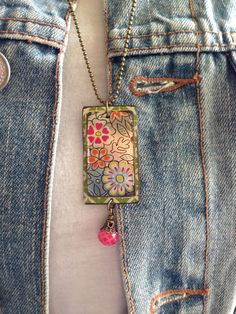 Tin Jewelry Necklace Raspberry Dream Tin for the by TheMadCutter