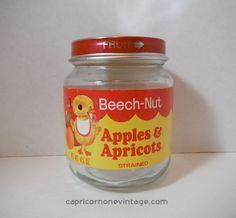 Vintage 1970s Beech Nut Baby Food Jar Squash In Butter