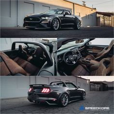 SpeedKore Mustang GT Convertible A timeless Mustang convertible inspired by the classic American roadster. Mercury Capri, Ford Mustang Convertible, Crate Engines, Mustangs, Custom Cars, Carbon Fiber, Mushrooms, Motorcycles, Trucks