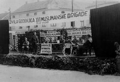 Bosnianmembers of the 16th Muslim Partisan Brigadestage a rally. Theanti-fascist brigade actively fought against the Axis collaborationist Serbian Yugoslav Army in the Homeland andfascist Croatian Ustaša organization. The 16th Muslim Partisan Brigade inflicted heavy casualties on the German and Italian forces during the war.This was the strongest anti-fascist Bosnian Muslim brigade with 15,000 well-armed guerrillas under the command of Josip Broz Tito. Tuzla, Yugoslavia (Bosnia and…