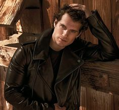 Henry Cavill with leather jacket