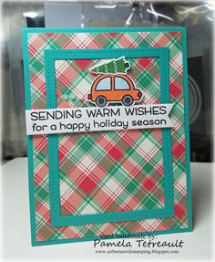 """airbornewife's stamping spot: TupeloDesignsLLC DT Card Project """"SENDING WARM…"""