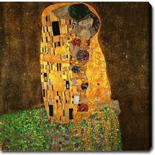 Gustav Klimt The Kiss painting is shipped worldwide,including stretched canvas and framed art.This Gustav Klimt The Kiss painting is available at custom size. Great Paintings, Klimt, Canvas Wall Art, Most Famous Paintings, Art Nouveau, Klimt Paintings, Kiss Painting, Oil Painting Reproductions, Love Art