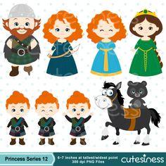 Princess Digital Clipart Princess Clipart Brave by Cutesiness
