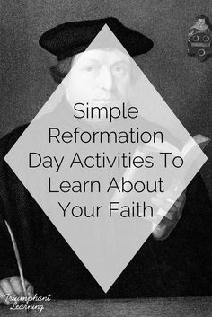 The more I researched and learned about Reformation Day and Martin Luther, the more excited I became.Celebrating Reformation Day is a great way to learn about the history of our protestant faith. Here's a brief history of Reformation Day and some simple activities so you can plan your own celebration. Martin Luther Protestant, Bible Resources, Homeschooling Resources, Reformation Sunday, Martin Luther Reformation, Teaching Religion, Protestant Reformation, Bible Study For Kids, Middle School Teachers