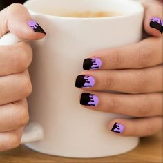 Toxic Drip Nail Stickers | Lavender, Pastel Goth