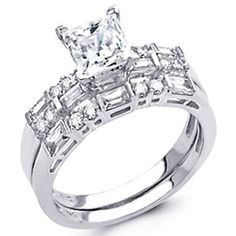 14K White Gold Princess-cut Top Quality Shines CZ Cubic Zirconia 1.75 CT Equivalent Ladies Engagement Ring and Wedding Band 2 Two Pieces Set - Size 8 The World Jewelry Center,http://www.amazon.com/dp/B004SREQJM/ref=cm_sw_r_pi_dp_.KTIrb45FD544EA1