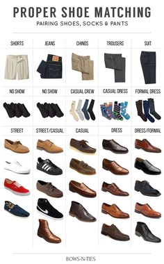 Guide To Matching Pants, Socks and Shoes                              …