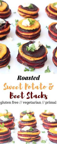 Roasted Sweet Potato & Beet Stacks