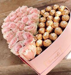 Valentines Gift Box, Valentine Bouquet, Valentines Flowers, Diy Bouquet, Candy Bouquet, Bouquet Flowers, Food Bouquet, Bouquet Box, Flower Box Gift