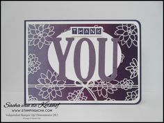 Stampin' Sacha - Stampin' Up! - Annual Catalogue 2016-2017 - Spring/Summer Catalogue 2017 - Large Letters Framelits - Labeler Alphabet - Succulent Garden - Perfect Plum - Emboss Resist - Thanks #stampin_sacha - #stampinup - #thanks