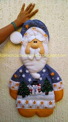 Las Manos de Angelica: Santa Claus de Fieltro