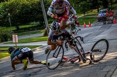 www.3LC.tv - PAINFUL PIC: High speed cycling crash victims captured in mid-air. Get ready to wince!