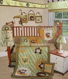 Custom Baby Bedding -Jungle Monkey- Green 15 PCS Crib Bedding Sisi,http://www.amazon.com/dp/B008J7TILI/ref=cm_sw_r_pi_dp_VF0mtb1SAV2ABPV0
