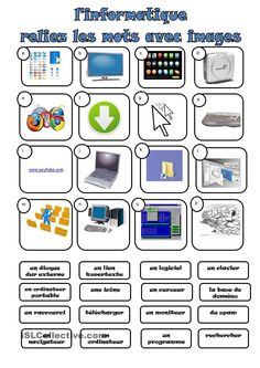 A collection of English ESL worksheets for home learning, online practice, distance learning and English classes to teach about technology, technology Sequencing Worksheets, Science Worksheets, Vocabulary Worksheets, Writing Worksheets, Printable Worksheets, French Worksheets, Computer Lessons, Computer Basics, Computer Programming