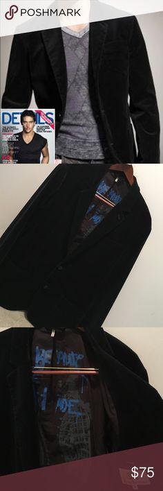 Juicy couture black velvet blazer Awesome men's blazer, great condition! Juicy Couture Suits & Blazers Sport Coats & Blazers
