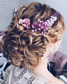Ulyana Aster Romantic Long Bridal Wedding Hairstyles_06 ❤ See more: http://www.deerpearlflowers.com/romantic-bridal-wedding-hairstyles/2/