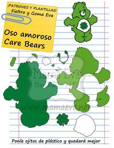 Todos los Care Bears -los Osos Amorosos- son muy parecidos. Basta con cambiarles el color y el dibujo del pecho y tendrás todos los que quieras.