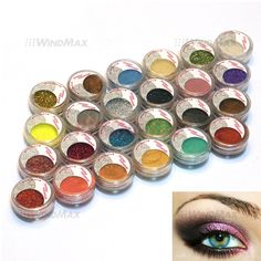 USA Seller 24 Warm Smoked Metals Color Glitter Shimmer Pearl Loose Eyeshadow Eyeliner Pigments Mineral Eye Shadow Dust Powder Makeup Party Cosmetic Set #D. 24 color tiny powder & glitter sheets eye shadow makeup sets #A. High quality ingredients with silky shine color, can last for all day long. EXCELLENT QUALITY COMBO SET FOR PARTY , DANCE QUEENS , WEDDING PARTY , CAUSAL WEAR , FASHION SHOW , MAKE UP SCHOOL / COURSE, MAKEUP SALON / STUDIO. Individual container for each color, about 5g…