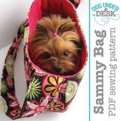 Sammy Bag Dog Sling Carrier PDF Pattern by ErinErickson on Etsy Small Pet Carrier, Puppy Carrier, Sling Carrier, Dog Purse, Dog Bag, Rat Terrier, Dog Sling, Bag Patterns To Sew, Sewing Patterns