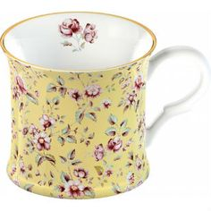 Mug Yellow Floral Palace Katie Alice